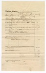 1874 November 16: Voucher, U.S. v. Isaac Johnson, retail liquor dealer not paying special tax; includes cost of travel expenses, transportation, hiring a guard, and feeding prisoner; John Ryan, guard; Shony Pack, posse comitatus; served by W.V. Alexander; Joseph Lewis and Zack Dunford, subpoenaed; J.O. Churchill, clerk; E.J. Brooks, commissioner;
