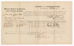 1874 October 5: Voucher, U.S. v. Jordan Sims and Joseph P. Sims, retail dealer of leaf tobacco without paying special tax; William J. Sims, Martin Ruthlof, and W.H. Dooley, witnesses; includes cost of per diem, and mileage; Edward J. Brooks, commissioner