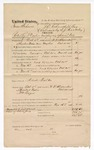 1874 November 16: Voucher, U.S. v. Isaac Johnson, retail liquor dealer not paying special tax; includes cost of travel expenses, transportation, hiring a guard, and feeding prisoner; William Frazier, subpoenaed; Albert Walker, guard; served by W.V. Alexander; E.J. Brooks, commissioner