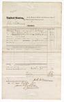 1874 October 16: Voucher, U.S. v. John Letterman, larceny; includes cost of transportation and food for prisoner; served by J.C. Cochran, U.S. deputy marshal; James O. Churchill, clerk