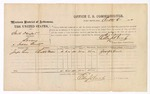 1874 October 6: Voucher, U.S. v. Smith Dunford, larceny in Indian Country; Joseph Lewis, witness; includes cost of per diem and mileage; Edward J. Brooks, commissioner