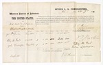 1874 October 7: Voucher, U.S. v. W.S. Wade and T.B. Sparks, obstructing U.S. mail; J.T. Barton, Riley M. Ford, and John Lavesque, witnesses; includes cost of mileage and per diem; J.F. Fagan, U.S. Marshal; J.L. Honor, commissioner