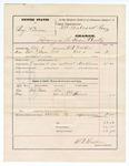 1874 October 18: Voucher, U.S. v. Benjamin Cravens, larceny in the Indian Country; includes cost of feeding prisoner; served by W.R. Walker, U.S. deputy marshal; F.C. Babcock, commissioner