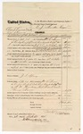 1874 October 23: Voucher, U.S. v. One Shoeman and One Shoeman, violation of the internal revenue law in arks; includes cost of  traveling expenses, feeding 2 prisoners, transportation, 1 guard, and  feeding guard; served by William Brown, U.S. deputy marshal; J.S. Spring, guard; E.J. Brooks, commissioner