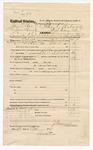 1874 October 29: Voucher, U.S. v. James Box (alias James Horrard), larceny in Indian Country; includes cost of feeding 2 prisoners and transportation; James Vandergriff, U.S. deputy marshal; Floyd C. Babcock, commissioner