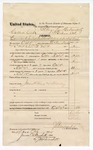 1874 October 29: Voucher, U.S. v. Caldwell Cooper, committed to jail at Fort Smith Arks in default of bail; includes cost of feeding prisoner, transportation, 2 guards, and traveling expenses for guards; James Henry and Holliday, guards; Floyd C. Babcock, commissioner