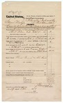 1874 October 29: Voucher, U.S. v. Samuel Meets, committed to jail at Fort Smith Arks in default of bail; includes cost of feeding prisoner, transportation, and travel expenses for 2 guards; Thomas French and John Smith, guards; served by J.S. Vaudegriff, U.S. deputy marshal; Floyd C. Babcock, commissioner