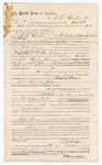 1874 October 23: Contract for posse comitatus, J.L. Cook, in U.S. v. Bud Wean, committed to jail; Albert C. Savage, U.S. deputy marshal; James O. Churchill, clerk