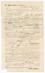 1874 October 24: Contract for posse comitatus, Thomas French, in U.S. v. Benjamin Cravins, committed to jail in Fort Smith; William A. Walker, U.S. deputy marshal; J.F. Fagan, U.S. Marshal