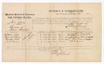 1874 October 26: Voucher, U.S. v. John Spivey, larceny in Indian Country; Littleton Holt, Frances A. Spivey, Martha Holt, and J.J. Gardner, witnesses; Edward J. Brooks, commissioner