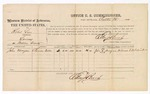 1874 October 26: Voucher, U.S. v. Robert Love, larceny in Indian Country; includes cost of per diem and mileage; John Morgan, witness; Edward J. Brooks, commissioner