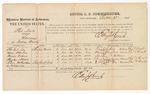 1874 October 27: Voucher, U.S. v. Pat Nale, larceny in Indian Country; includes cost of per diem and mileage; Iba Tubbee, Mase Harlan, Martin Folsons, Charles Nena, and Ellis McGee, witnesses; Edward J. Brooks, commissioner