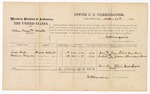1874 October 28: Voucher, U.S. v. William Towshege And Hollutale; includes cost of per diem and mileage; James Boyd and Joshua Grayson, witnesses; James O. Churchill, commissioner