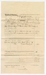1874 November 16: Voucher, U.S. v. Joseph Moses, retail liquor dealer not paying special tax; includes cost of mileage, feeding prisoner, one guard, and travel expenses; Shony Pack, posse comitatus; John Ryan, guard; Joseph Lewis and Zack Dunford, subpoenaed witnesses; served by W.V. Alexander, James O. Churchill, commissioner; issued by E.J. Brooks; 2 copies
