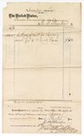 1874 November 4: Voucher, to E.B. Blanks, includes cost of cart for hauling sand; James O. Churchill, clerk