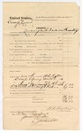 1874 November 27: Voucher, U.S. v. Orange Lucus, larceny in the Indian Country; includes cost of travel expenses; W.R. Walker, U.S. deputy marshal; James O. Churchill, clerk