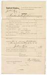 1874 November 6: Voucher, U.S. v. Jackson King, Cherokee interpreter; includes cost of mileage; served by R.P. Henton, U.S. deputy marshal