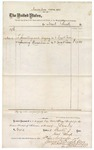 1874 November 10: Voucher, to Neal Reed, includes cost of painting and glazing U.S. court room and repairing chandelier in court room; James O. Churchill, clerk