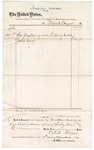 1874 November 7: Voucher, to Patrick Dwyer, includes cost of plastering and lathing; James O. Churchill, clerk