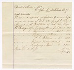 1874 November 21: Voucher, U.S. v. Joseph Sims, dealer in tobacco not paying tax; includes cost of travel expenses and subpoena of witnesses, Jacob Dollar and Nellie Blackwell; served by J.C. Mitchell, U.S. deputy marshal; James O. Churchill, clerk; includes voucher to John C. Mitchell, includes cost of dinners, lodgings, and a horse hire