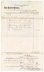 1874 November 11: Voucher, to Arks Valley Freight Co., includes cost of shipping packages; J.F. Fagan, U.S. deputy marshal; I.P. Ashbrook, signer for Arks Valley Freight Co.; James O. Churchill, clerk