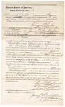 1874 November 12: Bond for defendant, U.S. v. Thomas Underwood, introducing spirituous liquor into the Indian Country; Tecumseh Leader, surety with note of surety; Luke Underwood, witness; E.J. Brooks, commissioner; James O. Churchill, clerk