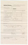 1874 November 14: Voucher, U.S. Grand Jury, includes cost of subpoenaed witness, James Thurman; served by James Brizzolara
