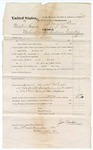 1874 December 16: Voucher, U.S. v. Martin Nayues, murder in the Indian Country; includes cost of subpoenaed witnesses, Robert Cobb, Edward Cofee, and Joe James; served by James Brodie, U.S. deputy marshal; James O. Churchill, clerk