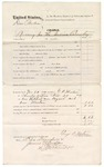 1874 December 12: Voucher, U.S. v. Dan Perdue, larceny in the Indian Country; includes cost of subpoenaed witnesses, One Whitehead, One Bryant, and One Morton; served by George P. Horton, U.S. deputy marshal; James O. Churchill, clerk