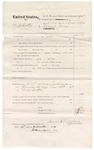1874 December 17: Voucher, U.S. Grand Jury; includes cost of subpoenaed witness, One Duttar; served by James Brizzolara, U.S. deputy marshal; James O. Churchill, clerk