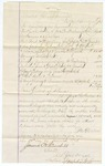 1874 December 14: Voucher, to George Winter; includes cost of travel expenses, lodging, and feeding everyone on the trip; James O. Churchill, clerk