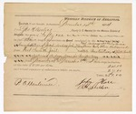 1874 December 14: Voucher, from George H. Witten, U.S. deputy marshal; includes cost of services of guard during transportation of prisoners from Fort Smith to Little Rock; signed by P. Offenheimer, John Hase, and R.H. Sheldon