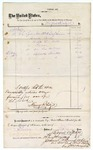1875 January 14: Voucher, to Bocquin and Roulzel; includes cost of lamps, books, and eraser; signed by Henry Reulzel; James O. Churchill, clerk