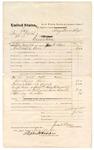 1875 May 24: Voucher, U.S. v. Ben S. Duval, execution; served by Jacob Baer, U.S. deputy marshal