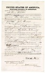 1875 February 5: Bond for witness, Thoman Hutton, in U.S. v. John Wicker, larceny in the Indian Country; James O. Churchill, commissioner
