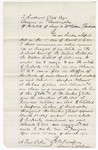 1875 March 15: Letter, from David A. McKibben to Hubbard Glove, assignee in bankruptcy of the estate of David A. McKibben; regarding property involved in bankruptcy