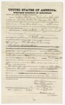 1875 April 9: Bond for defendant, U.S. v. Alfred Williams and Joshua Smith, larceny in the Indian Country; Martin Brodges and M. Burton, sureties; James O. Churchill, commissioner