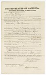 1875 April 15: Bond for defendant, U.S. v. John Williams, introducing spirituous liquor into Indian Country; E.J. Banks, surety; James O. Churchill, commissioner