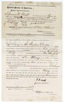 1875 April 24: Bond for defendant, U.S. v. Richard Webb, larceny in the Indian Country; James M. Webb, surety with a note of surety attached; James O. Churchill, commissioner