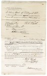 1875 May 18: Bond for defendant, U.S. v. Henry Wood, assault with intent to kill; Thomas P. Wolf, surety with note of surety attached; James O. Churchill, commissioner