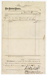 1875 May 19: Voucher, to Patrick Frizzell; includes cost of 50 yards of bagging; James O. Churchill, clerk