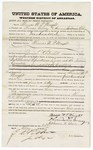 1875 May 24: Bond for defendant, U.S. v. Thomas W.P. Wright, introducing spirituous liquor into the Indian country; Thomas Gibney and Ephrain M. Adair, surety; James O. Churchill, commissioner