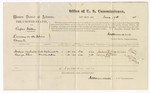 1875 June 17: Voucher, U.S. v. Rufus Miller, larceny in the Indian Country; includes cost of per diem and mileage; Joshus Hendricks and George Starr, subpoenaed witnesses; James O. Churchill, commissioner