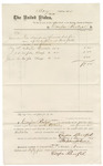 1875 June 24: Voucher, to Casper Rentzel; includes cost of furniture, water buckets, and soap; Stephen Wheeler, clerk