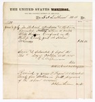 1875 June: Voucher for medical treatment for George Starr, confined at Phillips County jail in Helena, Arkansas; D.A. Luithicum, MD; James F. Fagan, U.S. Marshal