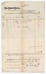 Circa May 12 1876: Voucher for coal oil and other supplies, signed B.J. Atkinson;