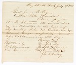 1875 July 19: Letter to James F. Fagan instructing the payment of William F. Sherman relating to U.S. v. O-Tah-Wa and Edward George; includes Wamego, Crawfish, Joseph Ponies, Alphansus Vallier, and John N. Earley; witnessed by E.B. Harrison, commissioner