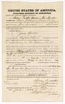 1875 July 20: Bond for witnesses, U.S. v. Jim Smoker, larceny , William Proctor Yadon, Sam Saunders, Lewis Johnson, and Lewis Coody; Stephen Wheeler, commissioner; B.J. Williams, D.C.