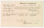 1875 July 26: U.S. v. Thomas Harris, for violation of revenue laws; Samuel W. Jacoby and James F. Smith; Stephen Wheeler, commissioner