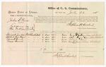 1875 July 26: U.S. v. John B. Peirs, larceny; George M. Jackson, Alice A. Jackson, Edward Hunt, and Moses Harral, witnesses; Stephen Wheeler, commissioner